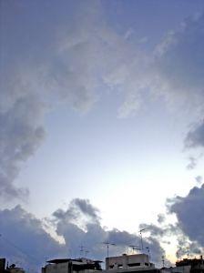 Breaking through, like the sun through the clouds